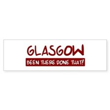 Glasgow (been there) Bumper Car Sticker