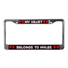 My Heart: Myles (#002) License Plate Frame