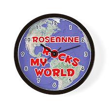 Roseanne Rocks My World (Red) Wall Clock