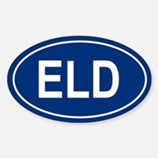 ELD Oval Decal