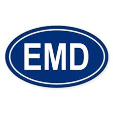EMD Oval Bumper Stickers