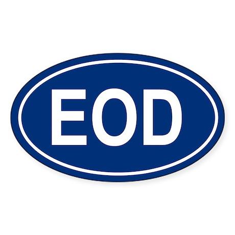 EOD Oval Sticker