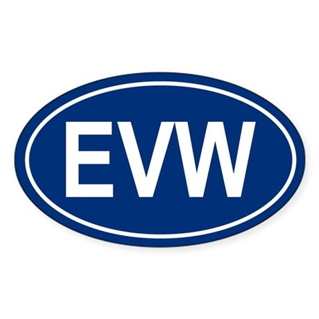 EVW Oval Sticker