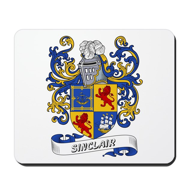 Sinclair Coat Of Arms Mousepad By Familycoats