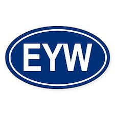 EYW Oval Decal