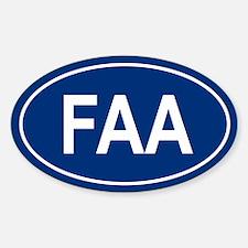 FAA Oval Decal