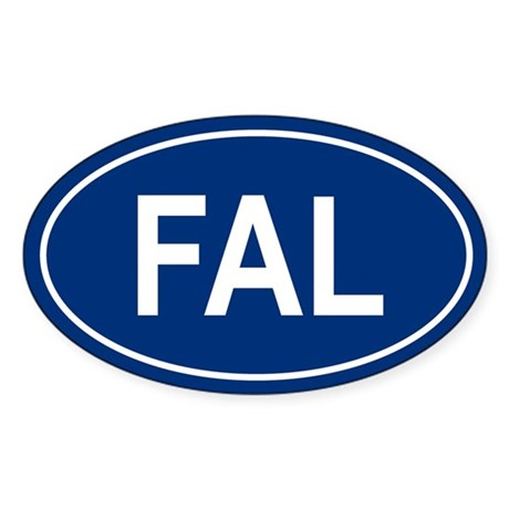 FAL Oval Sticker