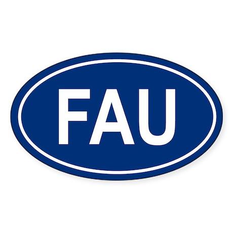 FAU Oval Sticker
