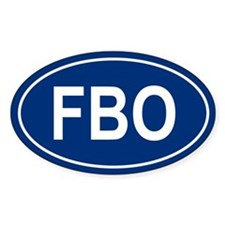 FBO Oval Decal