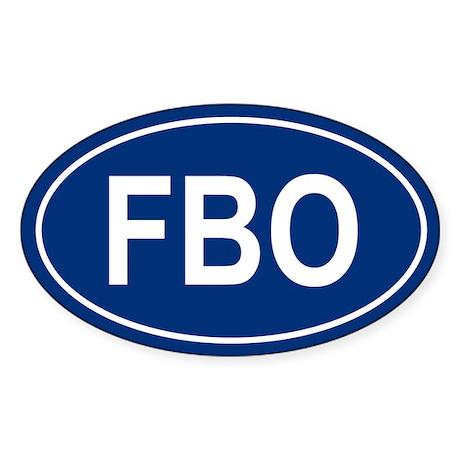 FBO Oval Sticker
