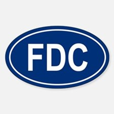 FDC Oval Decal