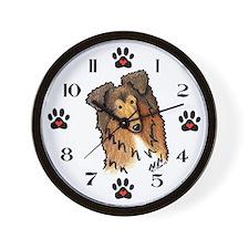 KiniArt COLLIE Wall Clock