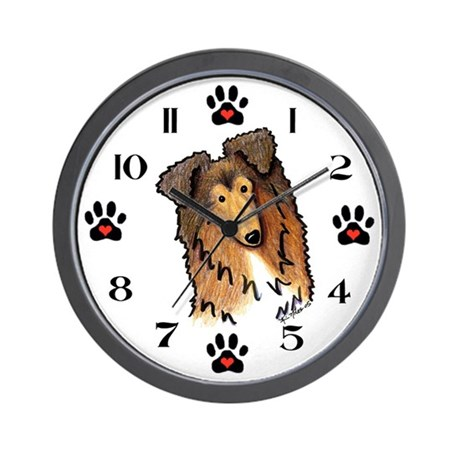 KiniArt COLLIE Wall Clock
