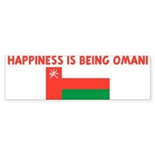 HAPPINESS IS BEING OMANI Bumper Bumper Sticker