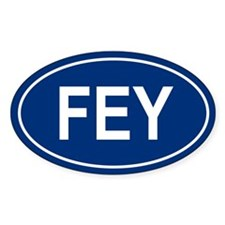 FEY Oval Decal