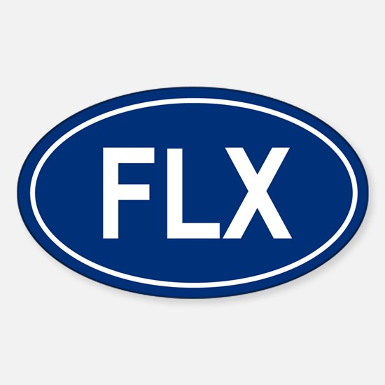 FLX Oval Decal