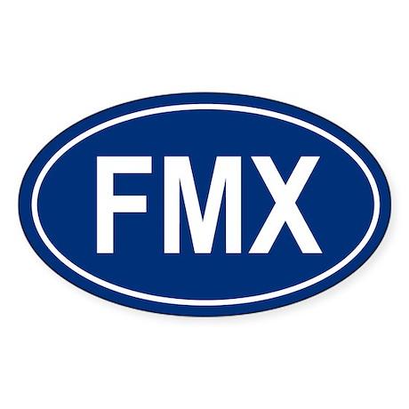 FMX Oval Sticker