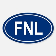 FNL Oval Decal