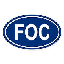 FOC Oval Bumper Stickers