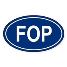 FOP Oval Decal