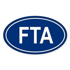 FTA Oval Decal