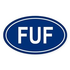 FUF Oval Bumper Stickers