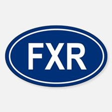 FXR Oval Decal