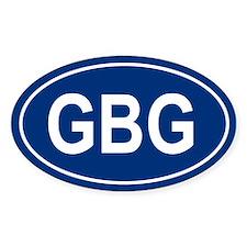 GBG Oval Decal