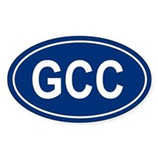 GCC Oval Decal
