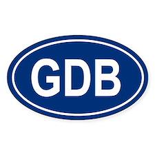 GDB Oval Bumper Stickers