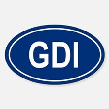GDI Oval Decal