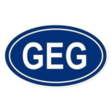 GEG Oval Decal