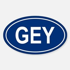 GEY Oval Decal