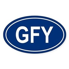 GFY Oval Bumper Stickers