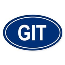 GIT Oval Decal