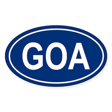 GOA Oval Sticker