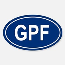 GPF Oval Decal