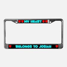 My Heart: Josiah (#003) License Plate Frame