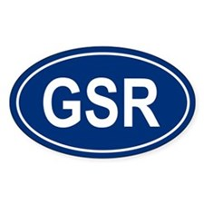GSR Oval Decal