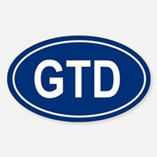 GTD Oval Decal