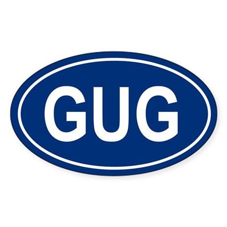 GUG Oval Sticker