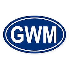 GWM Oval Decal