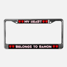 My Heart: Ramon (#002) License Plate Frame