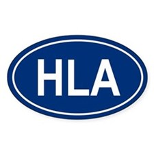 HLA Oval Bumper Stickers