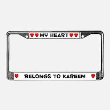 My Heart: Kareem (#004) License Plate Frame