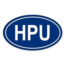 HPU Oval Decal