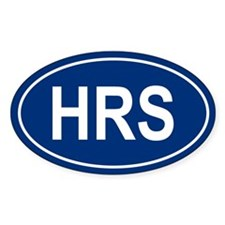 HRS Oval Decal