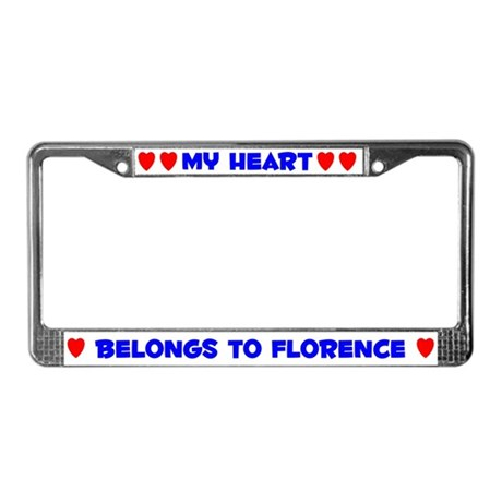 My Heart: Florence (#005) License Plate Frame