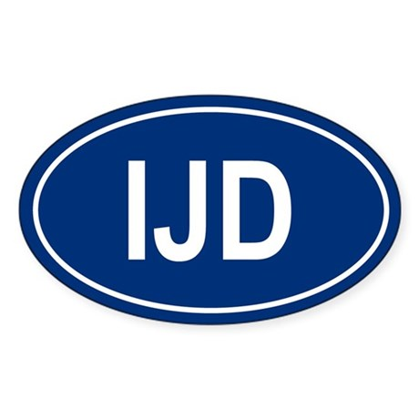 IJD Oval Sticker