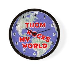 Thom Rocks My World (Red) Wall Clock